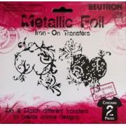 Metallic Foil Craft Stickers Iron-On Transfers